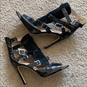 SJP by Sarah Jessica Parker Black Caged Heels